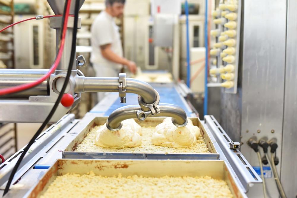 Machine in een industriële bakkerij
